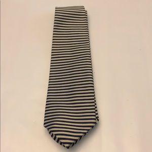 Brooks Brothers Gold and Dark Blue Stripe Tie
